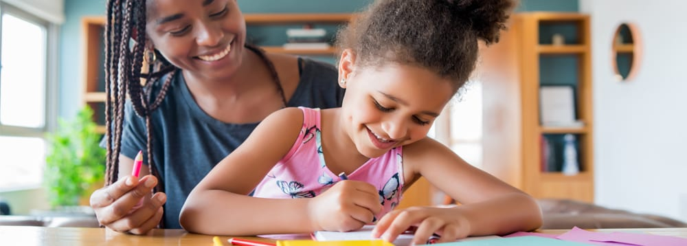 Helping children with their homework can help them build confidence with subjects they may have some trouble with.